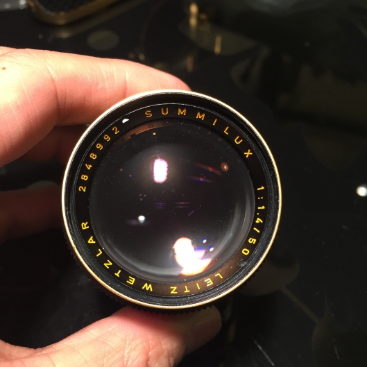 2nd hand Leica M4-2 with 50mm f1 4 Gold set on sale