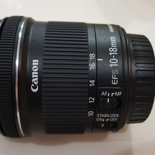 Canon 10-18mm f4.5-5.6 IS STM EF-S