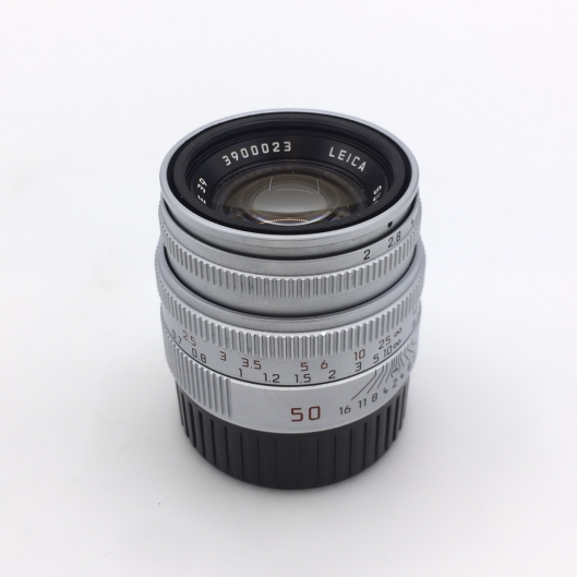 Leica 50mm f2 Summicron-M with built-in hood